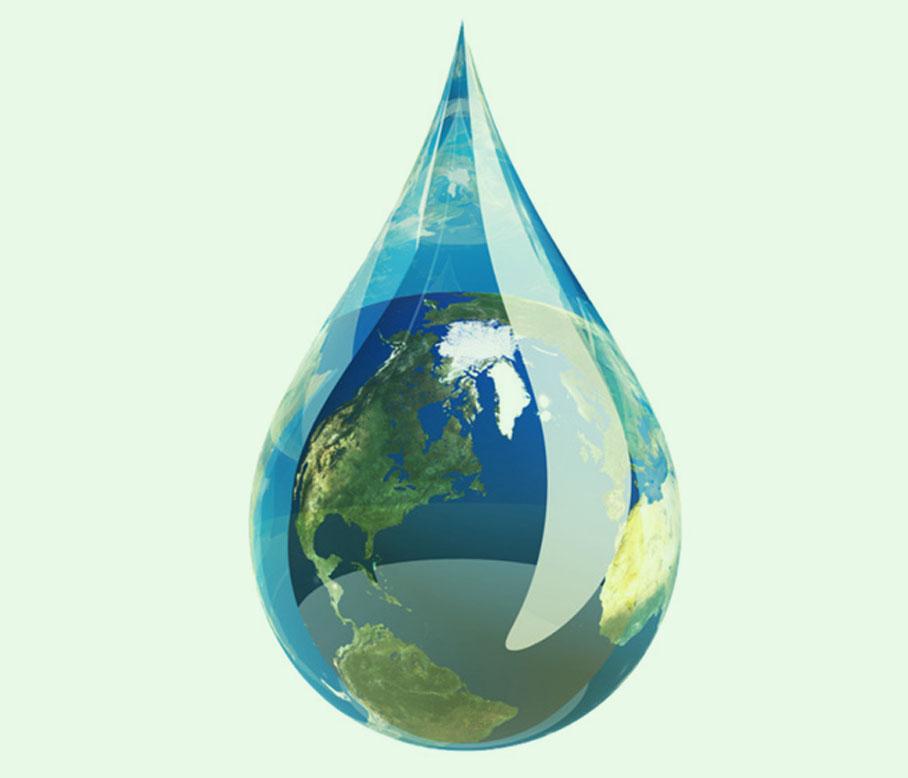 goccia acqua terra